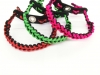Red, Neon Green, Pink all with Black - Shark tooth