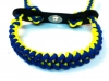 Blue and Neon Yellow Shark Tooth